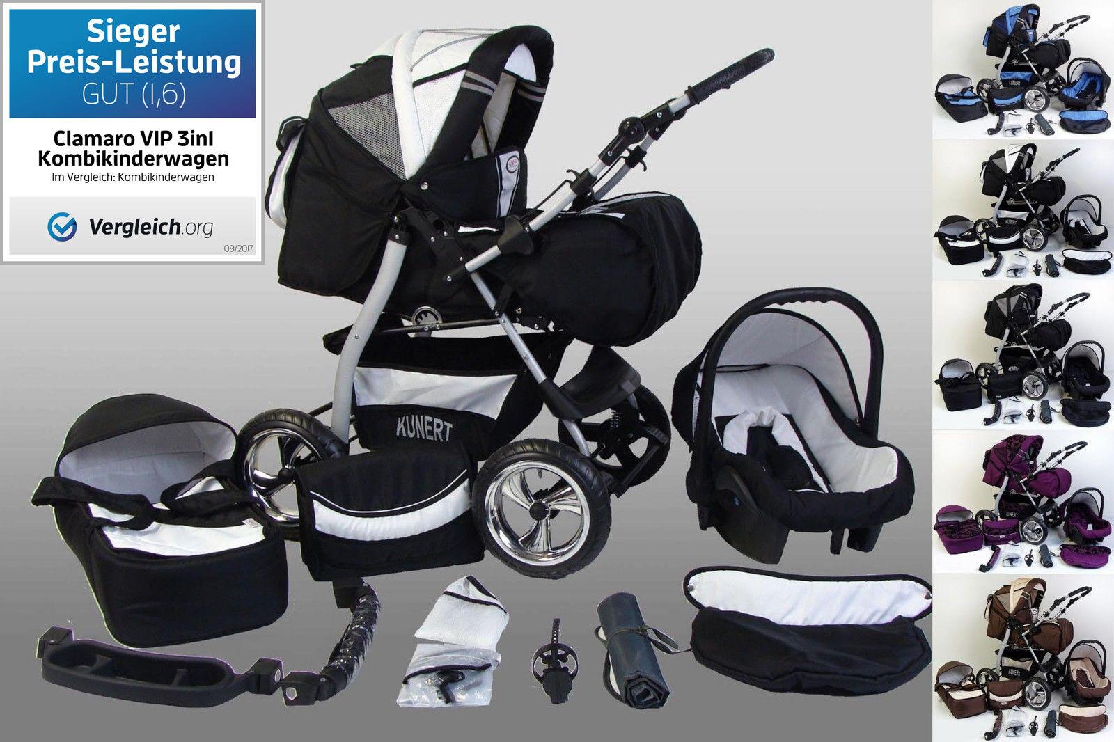 Kinderwagen Kombikinderwagen Babyschale 0-13 kg VIP 3in1 sofort lieferbar baby