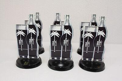 6 St. Afri Cola Werbeaufsteller Tischaufsteller Kartenhalter Motiv Flasche Glas