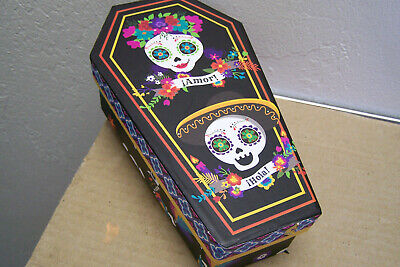 Colors Of Day Of The Dead (Colorful Day of the Dead Cardboard Coffin Box with Happy Sugar)