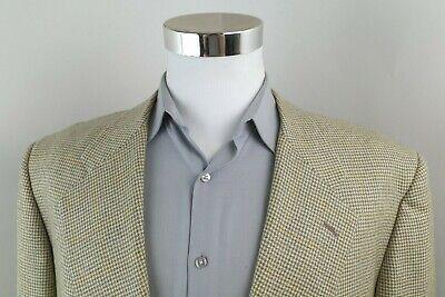 Pal Zileri Loro Piana Cashmere Beige Gray Houndstooth Sport Coat Blazer Men 46 L
