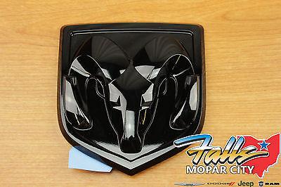 2009-2018 RAM 1500 Black Ram Head Tailgate Emblem MOPAR OEM