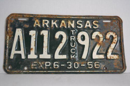 Vintage 1956 Arkansas License Plate 56 AR