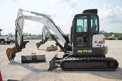 2014 Bobcat E50 Excavator - Coupler 2 Buckets Heat And Ac Hyd Thumb Nice