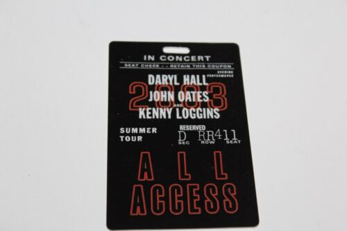 Hall & Oates  Kenny Loggins - Laminated Backstage Pass - - FREE POSTAGE