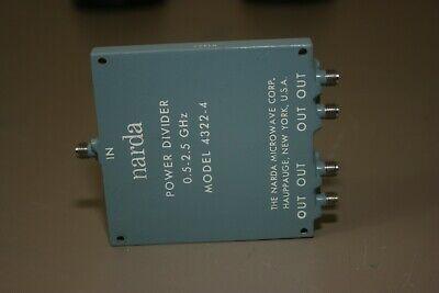 Narda 4322-4 Power Divider 0.5-2.5ghz Fully Tested Warranty
