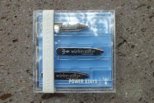 "Würkin Stiffs Magnetic Power Collar Stays, 3 Pairs of 2"" Inch Stays. NEW."