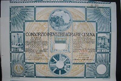 Consorzio Industrie Agrarie Cesena  1923  Italy