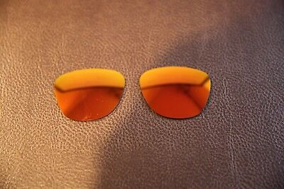 PolarLenz Polarized Fire Red Iridium Replacement Lens for-Oakley Frogskins