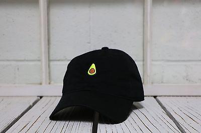 NEW AVOCADO EMBROIDERED POLO BASEBALL HAT HIP HOP CAP BLACK