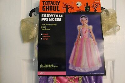 GIRL FAIRYTALE PRINCESS HALLOWEEN COSTUME DRESS AND HEADPIECE SIZE - Fairytale Costumes