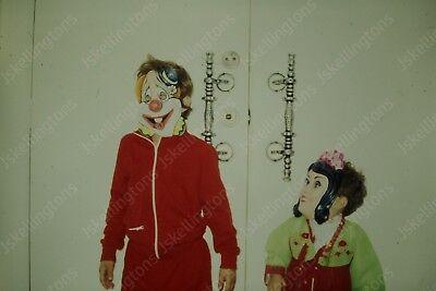 1970s kids in halloween costumes vintage 35mm slide Id13
