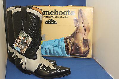 Weiße Leder Western Cowboy Stiefel (Prime Boots  cowboystiefel westernstiefel schwarz weiss leder handmade  gr. 40)