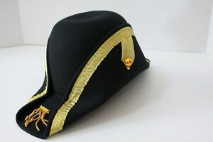 d2fd06a625c Halloween Napoleon Bonaparte French Captain Colonial English Hat G1476