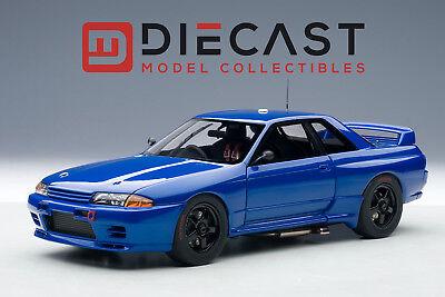 AUTOART 89281 NISSAN SKYLINE GT-R (R32) AUSTRALIAN BATHURST RACE 1992 BLUE 1:18