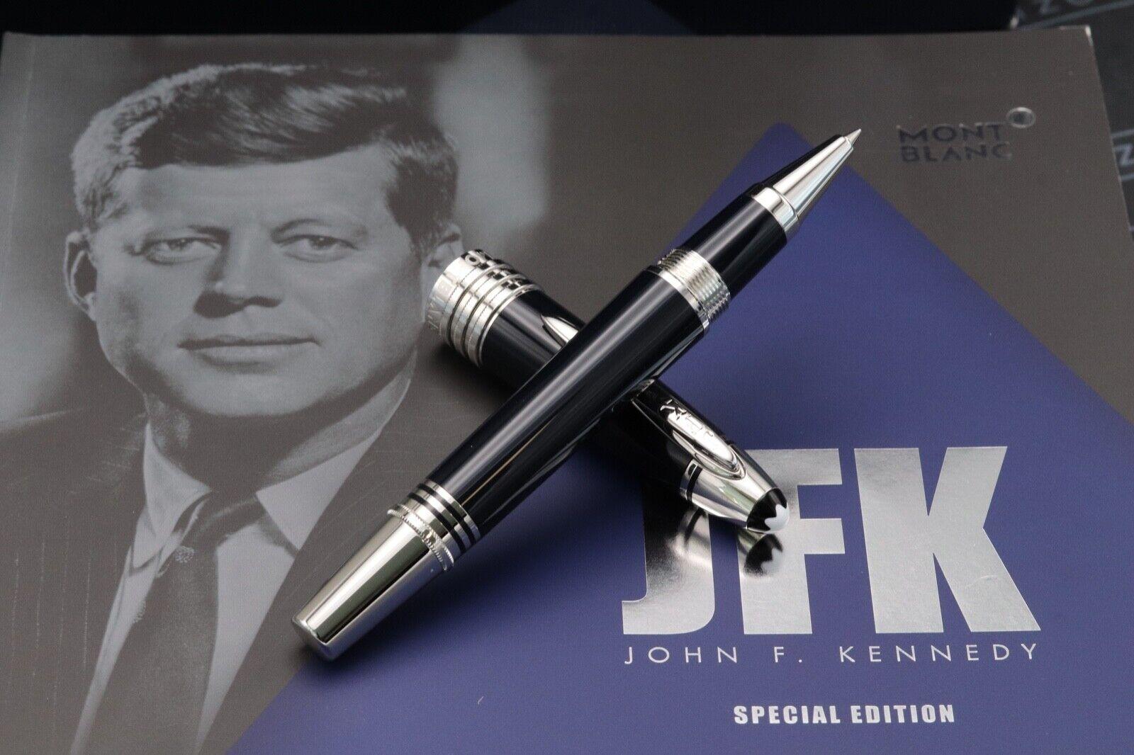 Montblanc Great Characters JFK Blue Rollerball Pen - UNUSED - AUGUST 21 1