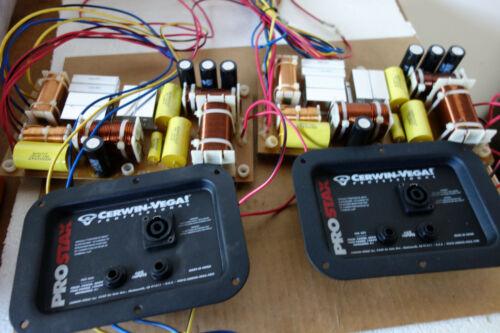 Pair 2 Pcs Cerwin Vega Pro Stax PSX-253- 3 way Audio Crossover