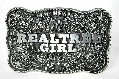 REALTREE GIRL LADIES METAL BELT BUCKLE
