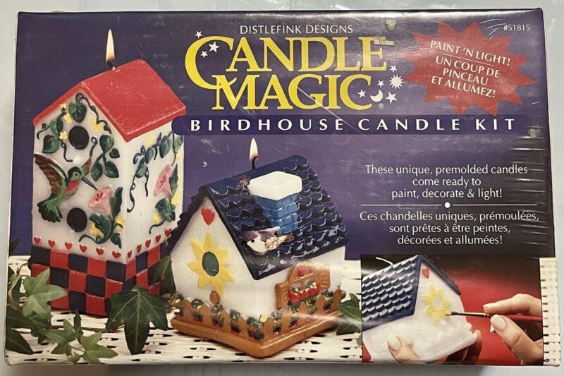 Distlefink Designs Candle Magic Birdhouse Candle Kit   Paint N Light   Premolded