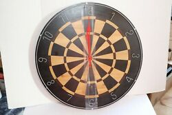 Midwest CBK Wooden Dartboard Wall Clock New 24  Wide 151225