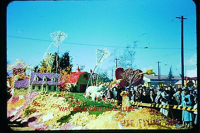 Early 1950's Red Border Side:  Tournament of Roses Parade Kit Flying Float (Parade Float Kits)