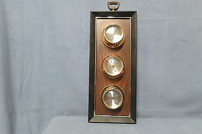 Vintage Springfield Wall Mount Weather Station Thermometer Barometer Humidity