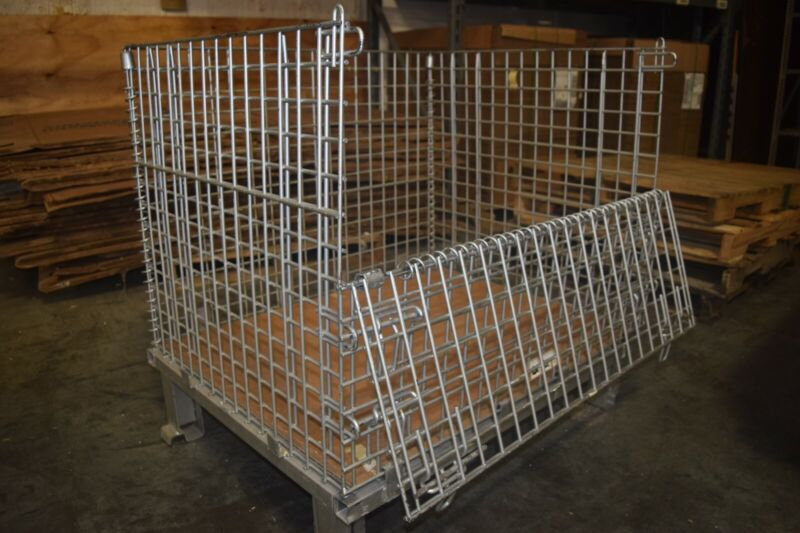 Heavy Duty Collapsible and Stack-able Folding Wire Containers