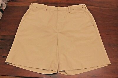 Orvis Edition - Orvis Sporting Edition Mens Comfort Waist Casual Shorts Sz 34 Khaki Flat Front