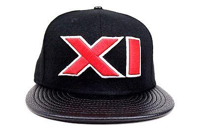 XI Air Jordan XI BRED Black Melton Faux Pebble Red XI 1996 New Era Fitted Hat Jordan Black Hat