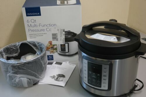 Insignia™ 6qt Multi-Function Pressure Cooker - Stainless Steel Finish (OB)