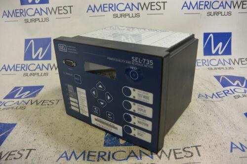 SEL Schweitzer Engineering SEL-735 Power Quality Meter 0735AB00944EXXXXXX16102XX