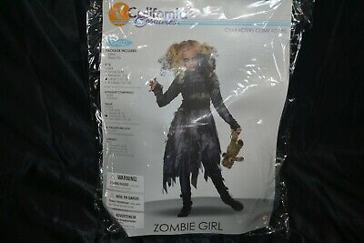 Scary Girls Costumes (Zombie Girl Halloween Costumes Size 10-12 Child Kids Girls Scary Monster)
