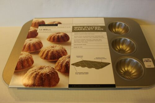 Williams-Sonoma Goldtouch Nonstick Mini Fluted 12-Well Cakelet Pan BRAND NEW