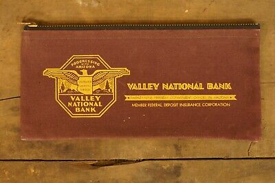 1920s Handbags, Purses, and Shopping Bag Styles 1920's-1930's Canvas Progressing with Arizona Valley National Bank Bag  $35.00 AT vintagedancer.com