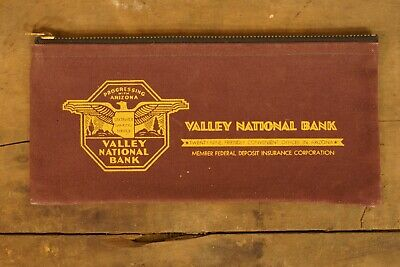 1920s Style Purses, Flapper Bags, Handbags 1920's-1930's Canvas Progressing with Arizona Valley National Bank Bag  $35.00 AT vintagedancer.com