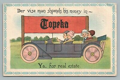 """""""Vise Man Sphends $ for TOPEKA KS Real Estate"""" Antique KS Dutch Kids Car Antique, used for sale  Shipping to Canada"""
