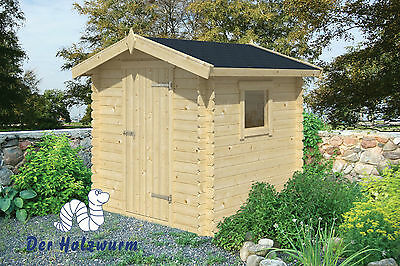 Gartenhaus Argo Blockhaus 200x200 cm Gerätehaus Holzhaus 19 mm Holz Schuppen
