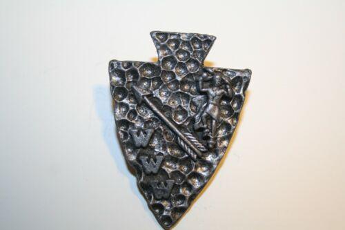 Boy Scout Full Bodied Indian  OA  Metal Neckerchief Slide