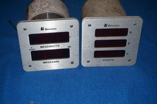 Bitronics MEGAWATTS MEGAVARS KVOLTS Meters