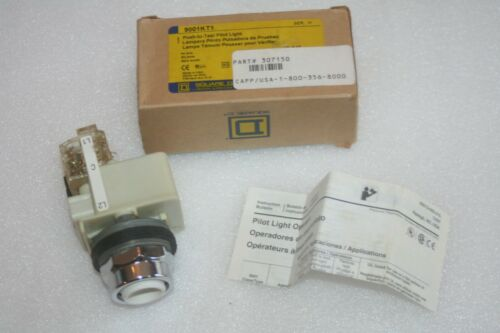 Square D 9001KT1 Push-to-Test Panel Mount Pilot Light Indicator **GENUINE** NEW