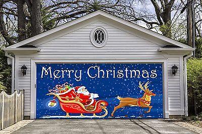 Christmas Santa Garage Door Murals Banners  3d Print Home Decor Billboard GD41 - Door Banners