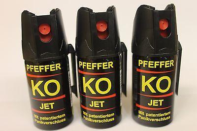 KO JET Pfeffer Spray  3 Dosen á 40 ml  - nur zur Tierabwehr!