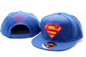 cool dc comics superman symbol logo blue snapback cap hat