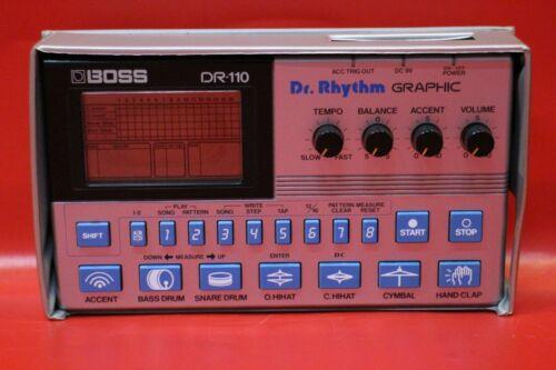 USED BOSS DR-110 Dr.Rhythm DR 110 Drum Machine Sequencer w/org.case U1351 210304