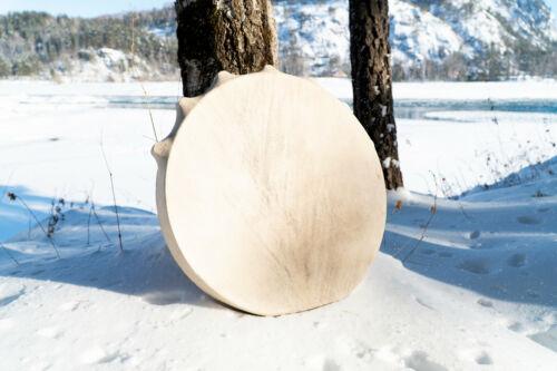 Shaman drum tambourine Siberian authentic round 50 cm in diameter