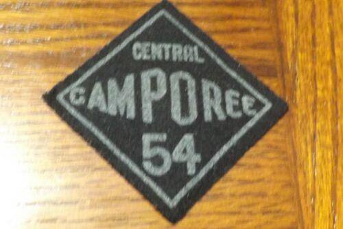 BOY SCOUT PATCH FELT 1954 CENTRAL CAMPOREE