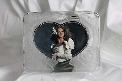 Frosted Heart Roses Clear Glass Picture Frame Heart Japan