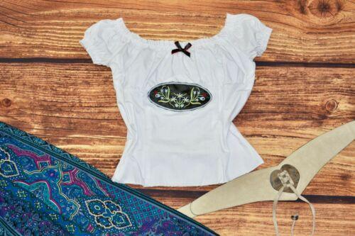 Girls Bavarian blouse Oktoberfest blouse Dirndl blouse White top