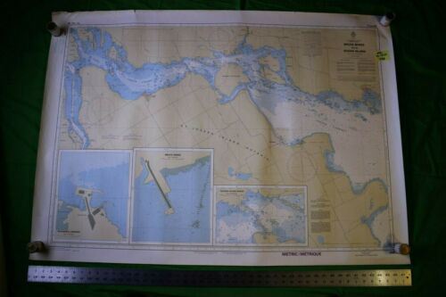 Lake Huron - Bruce Mines to Sugar Island 48x34 Vintage 1986 Nautical Chart/Map