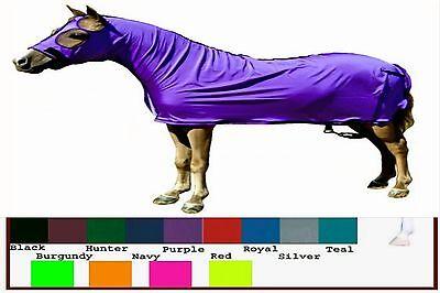 Miniature Horse MINI Sleazy Sleepwear Lycra 1 Piece FULL Body Hood Sheet Solid