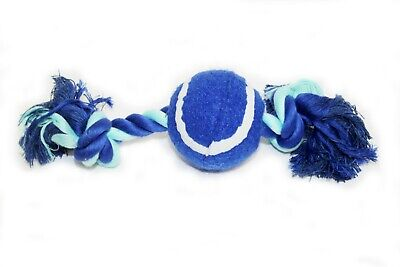 Super Squeaky Tennis Ball Bone Dog Toy Two Colours Available
